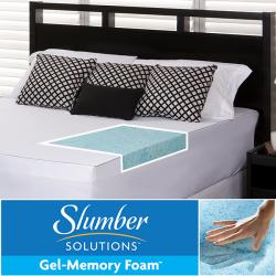Slumber Solutions Gel 2-inch Twin/ Full-size Memory Foam Mattress Topper with Cover