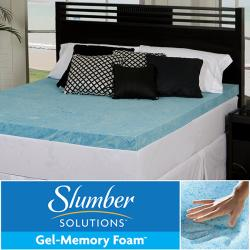 Slumber Solutions Gel 3-inch Queen/ King/ Cal King-size Memory Foam Mattress Topper