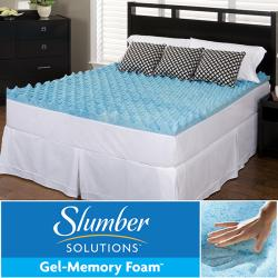 Slumber Solutions Gel Big Bump 2-inch Queen/ King/ Cal King-size Memory Foam Mattress Topper