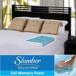 Slumber Solutions Gel Highloft 2-inch Queen/ King/ Cal King-size Memory Foam Mattress Topper with Cover