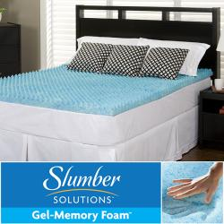 Slumber Solutions Gel Highloft 4-inch Queen/ King/ Cal King-size Memory Foam Mattress Topper