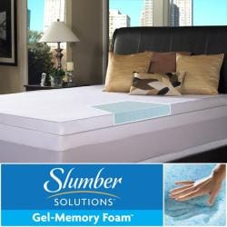 Slumber Solutions Gel Memory Foam 3-inch Twin/ Full-size Mattress Topper with Cover