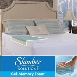 Slumber Solutions Gel Select 4-inch Queen/ King/ Cal King-size Memory Foam Mattress Topper with Cover