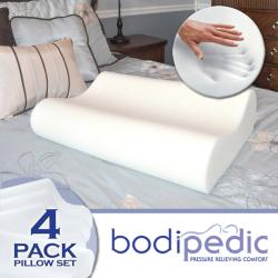 Bodipedic Memory Foam Contour Pillows (Set of 4)