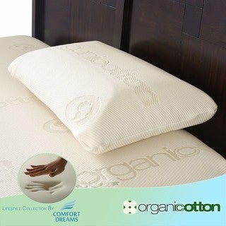 Comfort Dreams Organic Cotton King-size Memory Foam Pillow
