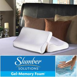 Slumber Solutions Gel Memory Foam Contour Pillow