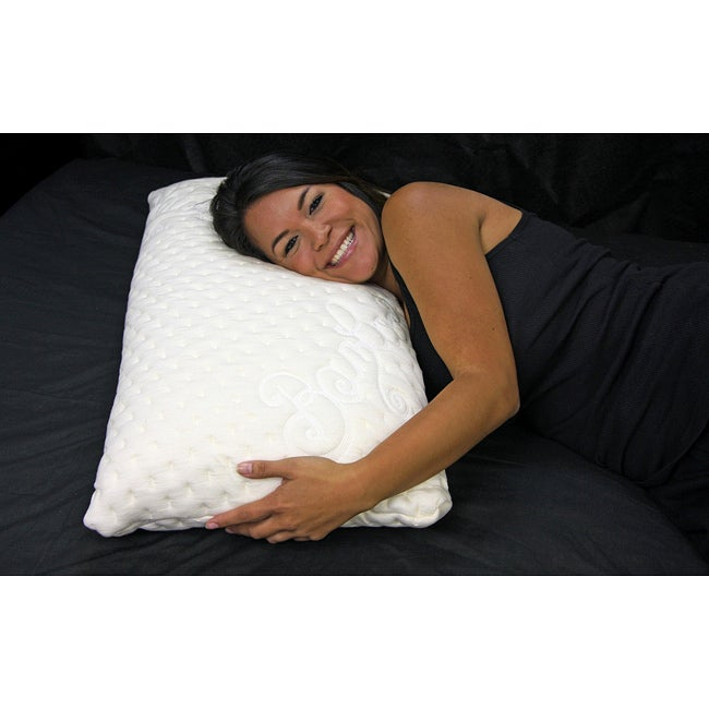 Ultra Plush Memory Foam Ventilated Pillow and Rayon from Bamboo Cover Set