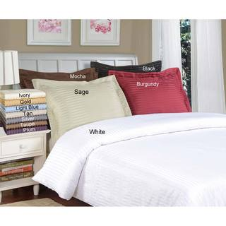 Microfiber Stripe 3-piece Duvet Cover Set