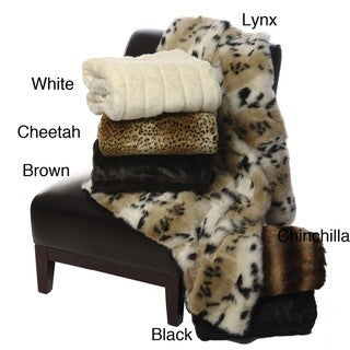 Mink Faux Fur Throw