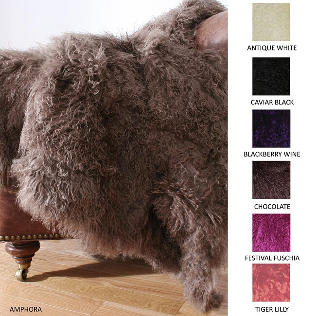 Mongolian Wool Fur Throw