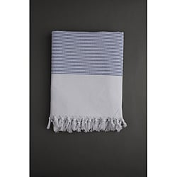 Navy Stripe Turkish Cotton Fouta Towel