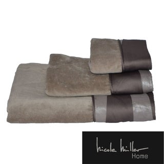 Nicole Miller Tangent Cotton 3-piece Towel Set