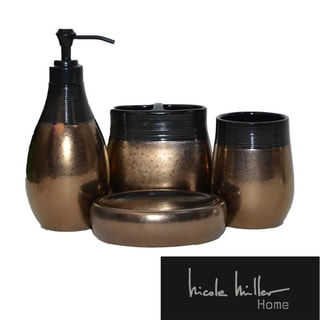 Nicole Miller Wild at Heart Bath Accessory Set