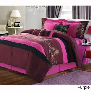 Nori Embroidered 8-piece Comforter Set