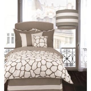 OIlo Twin-size Taupe Cobblestone Duvet Cover
