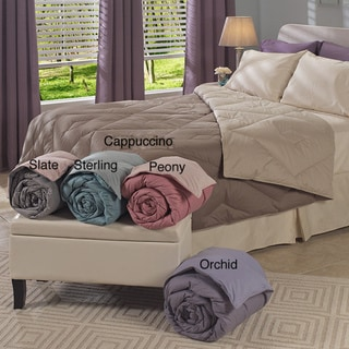 Oversized Reversible 300 Thread count Diamond Down Comforter