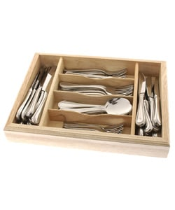 Wallace 77-piece Contiental Bead 18/10 Stainless Flatware Set
