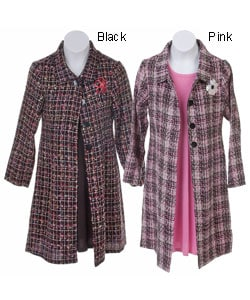 She's the One Girl's 2pc Tweed Jacket & Dress Set