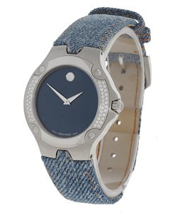 Movado Women's Sports Edition Denim Diamond Watch