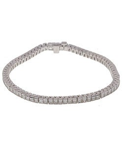 14k Gold 5-ct TW Channel-set Diamond Bracelet (G, VS2)