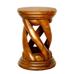 Handcarved Twist Table