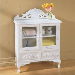 Catskill Craftsmen Double Door Kitchen Cabinet, White: Amazon.com