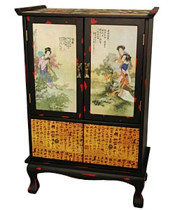Beauty in the Garden Two-door Cabinet (China)