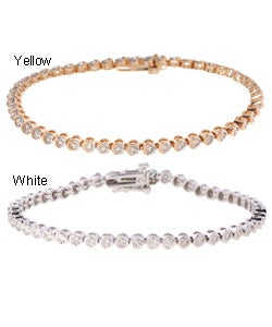 14k Gold 2ct Diamond Tennis Bracelet (J, I1)