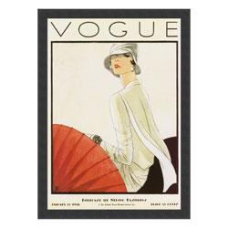 Woodruff Vogue Cover, January 15, 1928 Framed Print