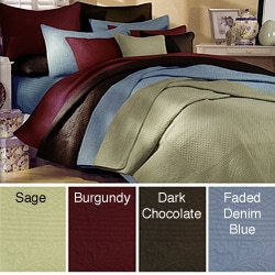 Renaissance Quilted King-size Cotton 3-piece Quilt Set