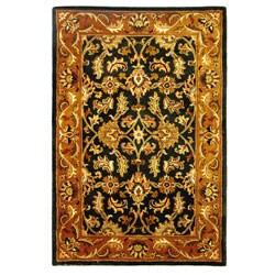 Safavieh Handmade Heritage Kashan Dark Green/ Gold Wool Rug (5' x 8')