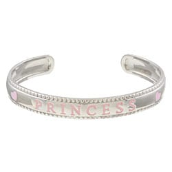Sterling Essentials Sterling Silver 6-inch Adjustable Princess Baby Cuff Bracelet