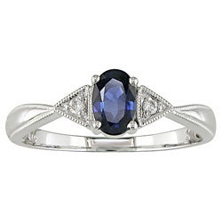 14-kt. White Gold Diamond and Sapphire Ring (bulk pack of 3)