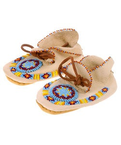 Pattern #33, Beaded Moccasins - Debbie Bliss Magazine