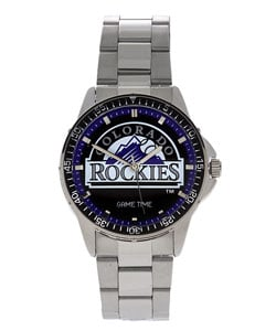 Colorado Rockies Men's Coach Series Steel Watch