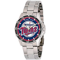 Minnesota Twins Men's Coach Series Steel Watch