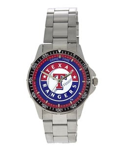 Texas Rangers Coach Series Steel Watch