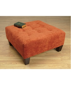 Rust Orange Triangle Button Tufted Cocktail Ottoman 10100681 Shopping Great