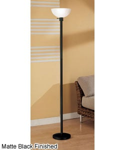 Torchiere Floor Lamp with Glass Shade | Overstock.