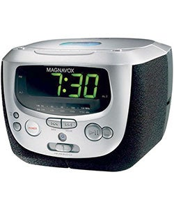Magnavox MCR230 CD Clock Radio with Dual Alarm (Refurbished)