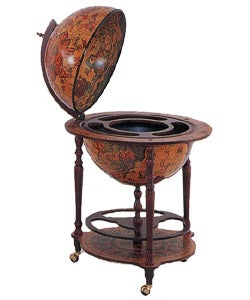 Italian 16th Century Style World Globe Bar