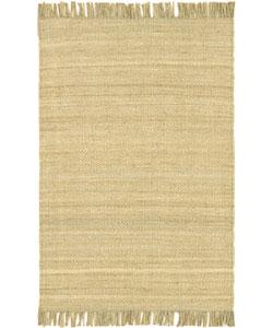 Hand-woven Jute Bleached Rug (5' x 7'6)