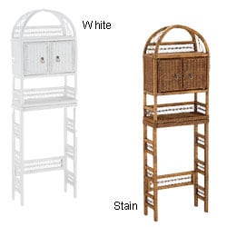 Wicker Bathroom Shelf