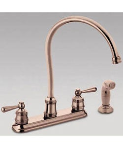 moen copper finish 2 handle kitchen hi arc faucet