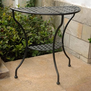 International Caravan Iron Half Moon Table