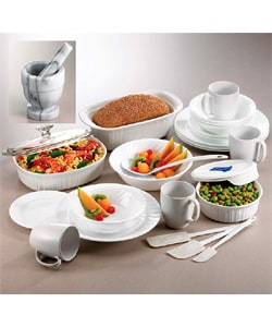 Corelle/French White 28-piece Combo Set