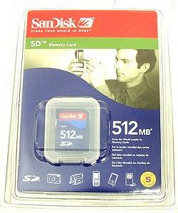 SanDisk SDSDB-512-A10 512MB Secure Digital Card
