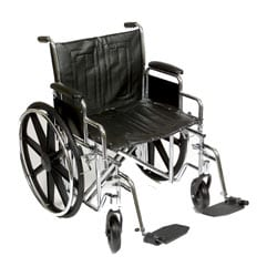 Heavy Duty 22 Inch Wide Wheelchair