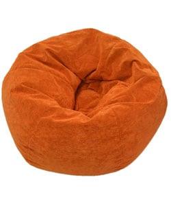 Gold Medal Sueded Corduroy Adult Orange Beanbag Chair