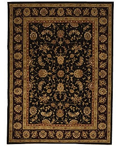 Safavieh Handmade Isfahan Black/ Burgundy Wool and Silk Rug (9'6 x 13'6)